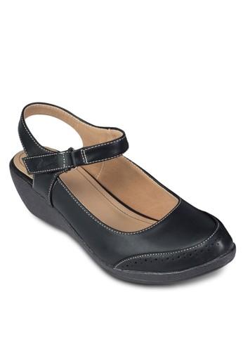 zalora 鞋評價踝帶包頭厚底休閒鞋, 女鞋, 涼鞋
