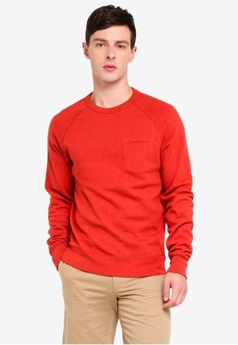 J.Crew red Lightweight Crew Neck Sweatshirt 16E15AA0C68A62GS_1