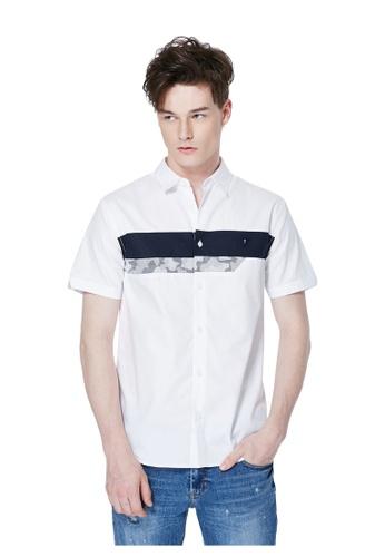 Guess white Short Sleeves Cotton Shirt GU020AA0GUNXSG_1