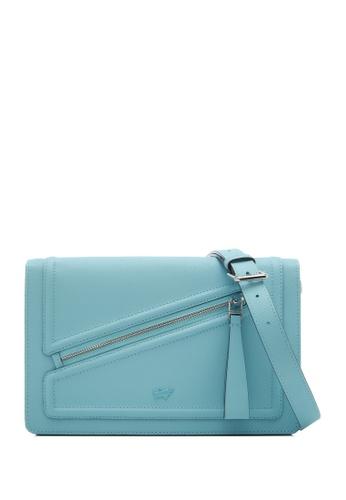 Braun Buffel blue Heidi Medium Crossbody Bag 0FC1EAC66FA8DCGS_1