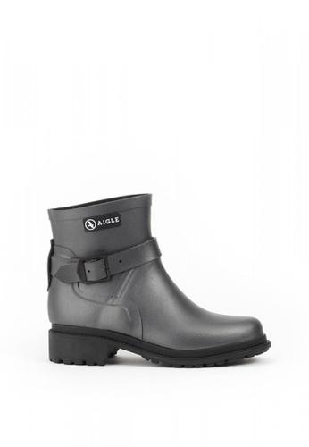 Aigle grey Macadames Low Rubber Boots 709BASH1870664GS_1