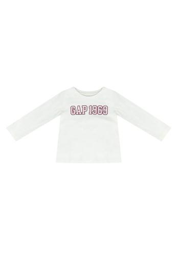 GAP white Family Logo T-Shirt 5C50FKA304421CGS_1