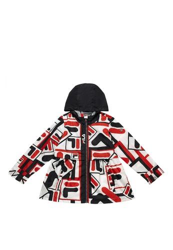 FILA white FILA KIDS All Over F-box Logo Hooded Jacket 8-9yrs ABA21KA76C3915GS_1