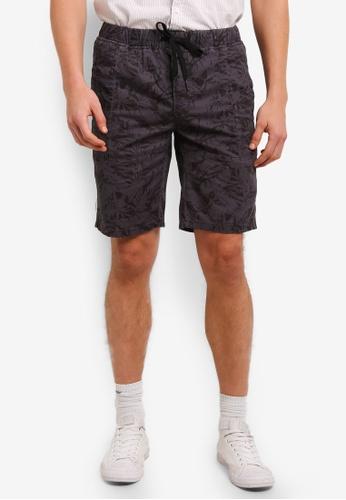 UniqTee 褐色 Chino Shorts With Elastic Waistband UN097AA0S222MY_1