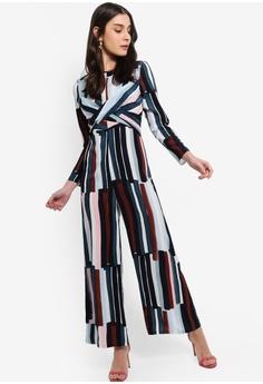 18802ea797 10% OFF ZALORA Twist Details Jumpsuit RM 105.00 NOW RM 94.90 Sizes XS S M L  XL