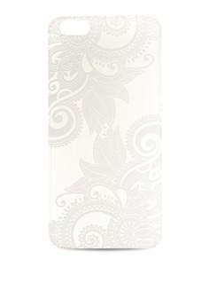 White Henna Series: Efflorescent Paisley Iphone 6 Plus Case