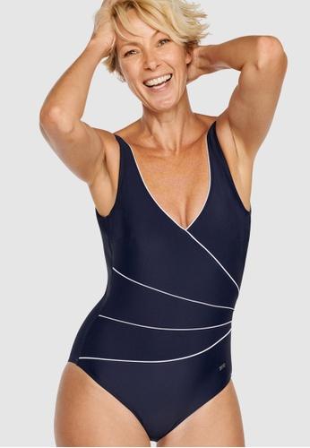 Naturana navy One-Piece Control Swimsuit 8366EUS52A6C1EGS_1