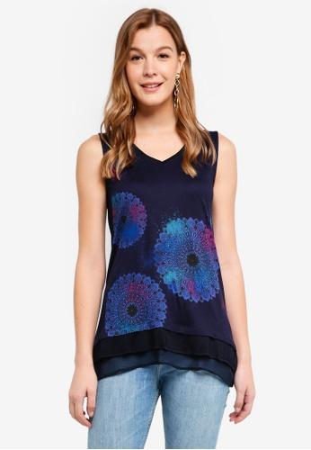 Desigual blue Palermo T-Shirt 48A81AA43A80E4GS_1