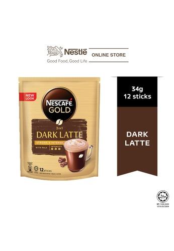 NESTLE Nescafe Gold Dark Latte 12 Sticks, 31g 5BB4CES415D934GS_1