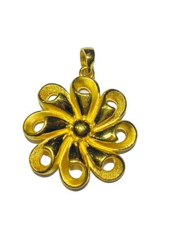 LITZ gold LITZ JINXI 999 (24K) Gold Flower Pendant BBEF5ACD5CCF4BGS_1