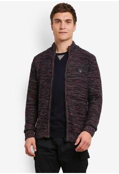Image of Cade Light Knit High Neck Zipped Sweater