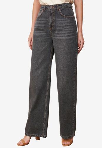 Trendyol black High Waist Wide Leg Jeans A9846AA4058478GS_1