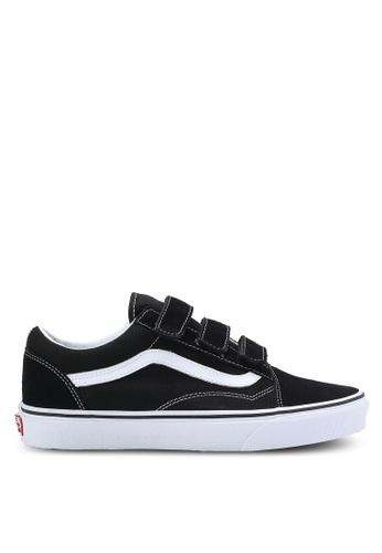 VANS black Old Skool V Suede and Canvas Sneakers VA142SH18GZDMY_1