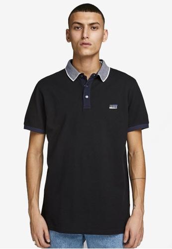 Jack & Jones black Charming Short Sleeves Polo Shirt C88F9AA2D1A755GS_1