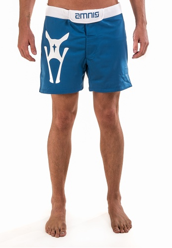 "AMNIG blue Men Fighter Shorts-15"" Blue White AM133AA29LGKMY_1"