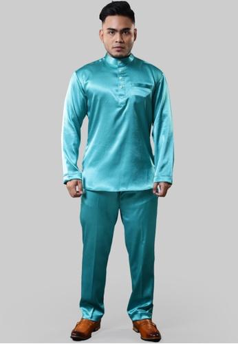 UA BOUTIQUE green Baju Melayu Mr Universe UABMS01-071 (Green Turqoise) 6EA08AAD284E19GS_1