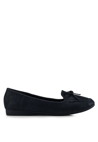 Louis Cuppers 黑色 蝴蝶結平底鞋 49F26SHCA6D53DGS_1