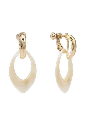 niko and ... white Acrylic Drop Earrings 05D88AC82B4886GS_1