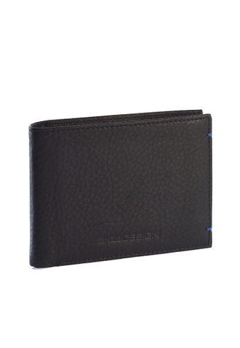 ENZODESIGN black and blue Ultra Soft Cow Leather Wallet(With Center Divider) EN115AC83ZTCPH_1