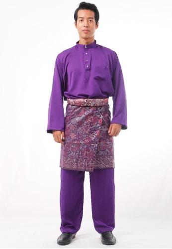 KAMDAR purple Mutaal Baju Melayu 28282AA1C6319EGS_1