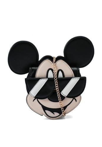 URBAN REVIVO black Mickey Mouse Sling Bag 1F969AC34065AEGS_1