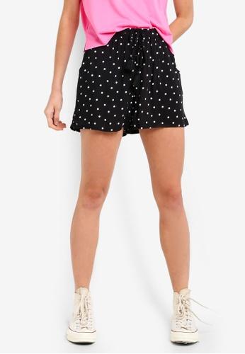 LC Waikiki black Elastic Waist Patterned Viscose Shorts 5824AAAE1F1EDAGS_1
