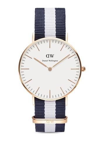 Daniel Wellington white Classic Glasgow-Watch Rose gold 36mm DA376AC71PVGMY_1