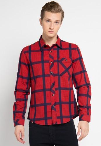 Cardinal red Jeans Men Kemeja CA079AA0UNVEID_1