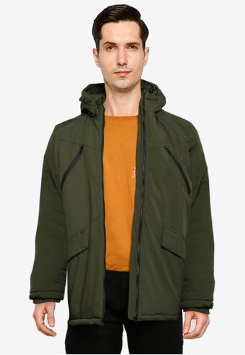 BLEND green Hooded Parka A904DAAE3D7727GS_1