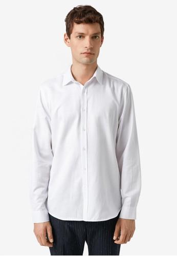 KOTON white Textile Shirts 40E73AABA54857GS_1