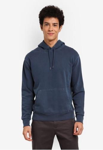 J.Crew blue Garment Dye French Terry Hoody 85B0AAAF497E25GS_1
