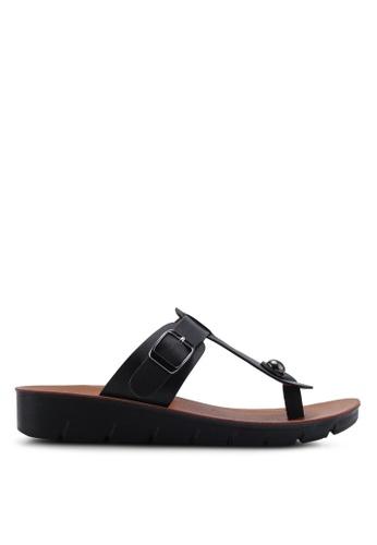 NOVENI black Faux Leather Sandals 950CESH267ECFCGS_1