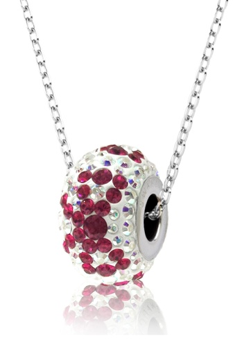 Her Jewellery white and red and pink BeCharmed Pave Bow Pendant- Made with premium grade crystals from Austria 1E649ACD085A76GS_1