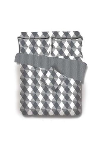 Primeo grey Premium 220TC King Comforter Set, Gray Comforter, Fitted Sheet, Pillow Case Set of 4 8B441HL877CDD3GS_1