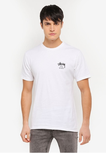 Stussy white Don't Scratch Tee ST135AA0SX3YMY_1