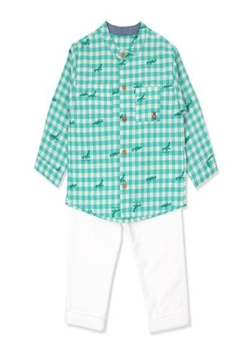 Organic mom green Organic Cotton  Mark Crocodile Outfit B0174KA3941D98GS_1