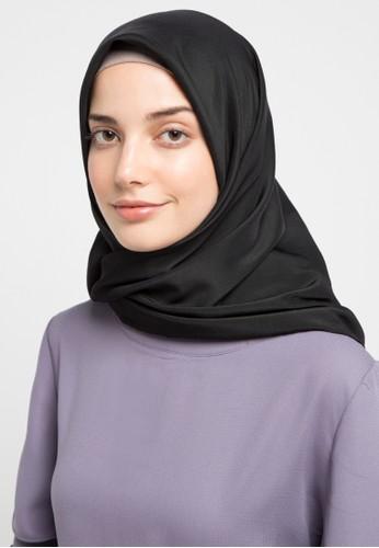 HAZELNUT black Luna Square Hijab EE432AA26C5B93GS_1