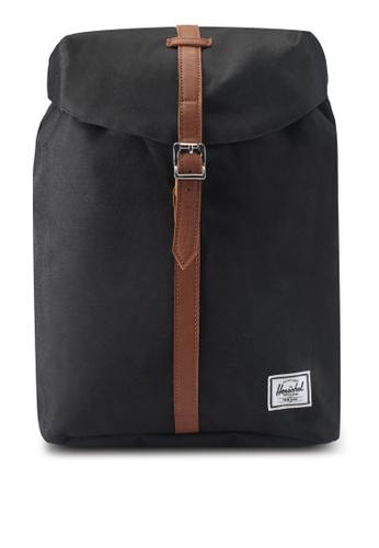 Herschel black Post Mid-Volume Backpack E05BAAC6CA559EGS_1