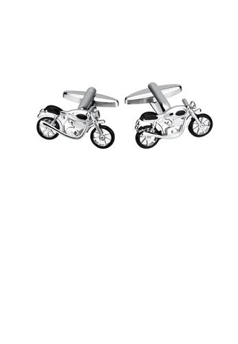 Glamorousky silver Fashion Personality Motorcycle Cufflinks 0153BAC8EF1C67GS_1
