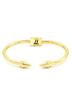 Pointed End Gold Bracelet Bangle