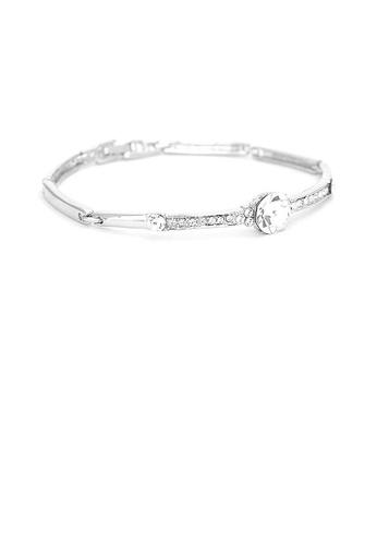 Glamorousky silver Elegant Bangle with Silver Austrian and CZ Beads C45B9ACB87BB76GS_1