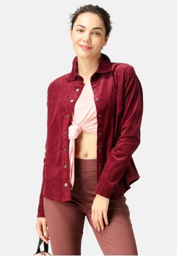 London Rag red Corduroy Shirt FC729AAE63CC0FGS_1