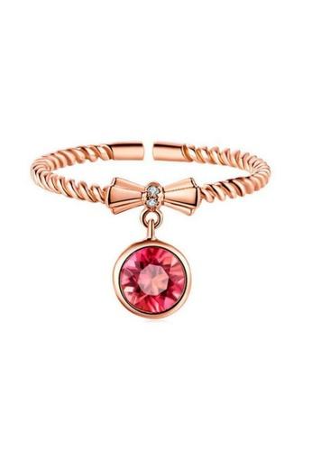 Vivere Rosse Phoenix's Eye Twisted Ring - Rose Gold VI014AC0RHAWMY_1