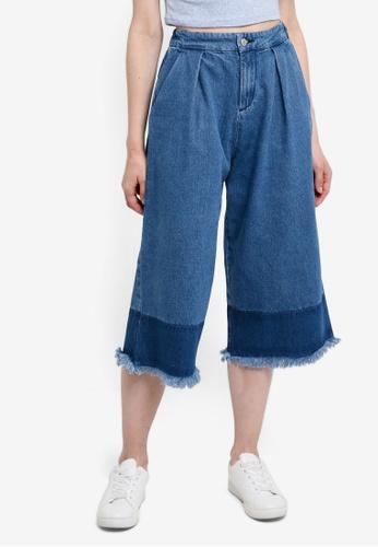Something Borrowed blue Colorblock Culottes 9B68EAA56F2CC2GS_1