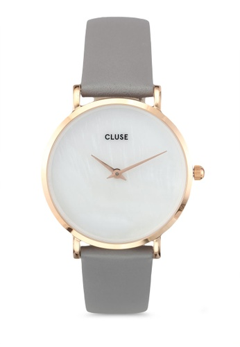 CLUSE grey Minuit La Perle Rose Gold White Pearl/Stone Grey Watch CL977AC0SA25MY_1