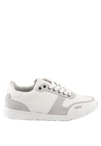 Otto white Combination Sneakers DBD55SHBAB43B0GS_1