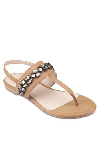 閃飾平底涼鞋、 女鞋、 鞋ZALORA閃飾平底涼鞋最新折價