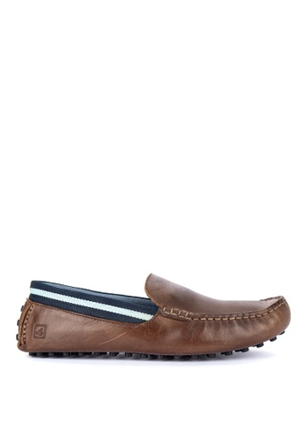 Sperry brown Hamilton Driver Loafers D2637SH27F1C4DGS_1