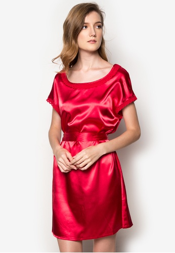 761e7efb759f Shop All Things New YOSOO Silk Night Dress in Wine Red Online on ZALORA  Philippines