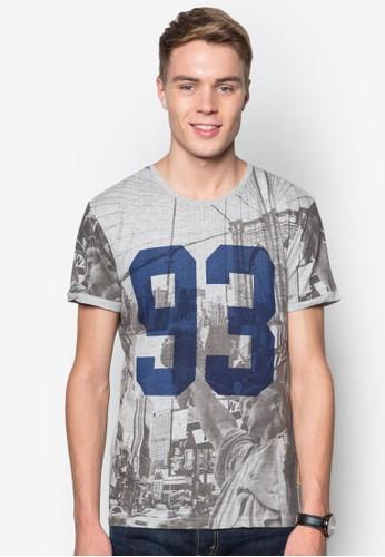 Jeffrey 數esprit hk分店字印花TEE, 服飾, T恤